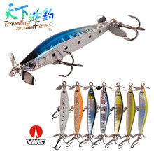 TAF High Quality 5cm 3.2g Sinking Pencil Equipment with Props Propeller Hot Model Fishing Lure Retail Bait VMC Hook Wobblers