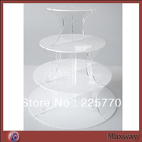 4 tiers round white acrylic cupcake display stand/cup cake stand