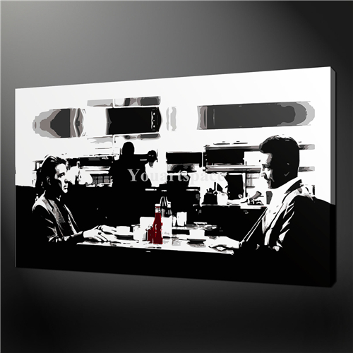 Wall Art Painting Pictures Print On Canvas Black And White Heat Movie Iconic Retro Canvas Print & Wall Art Painting Pictures Print On Canvas Black And White Heat ...
