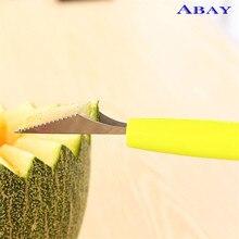 цена на Two-Head Fruit Spoon Carving Knife Kiwifruit Watermelon Hami Melon Spoon Digger Potato Mashed Ball ice Cream Spoon Fruit Tool
