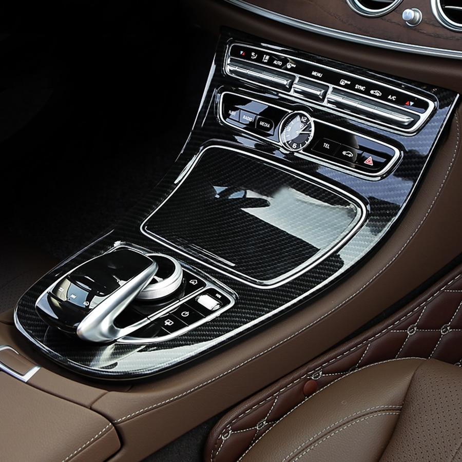 Buy carbon fibre console gear panel trim for Accessoire voiture interieur