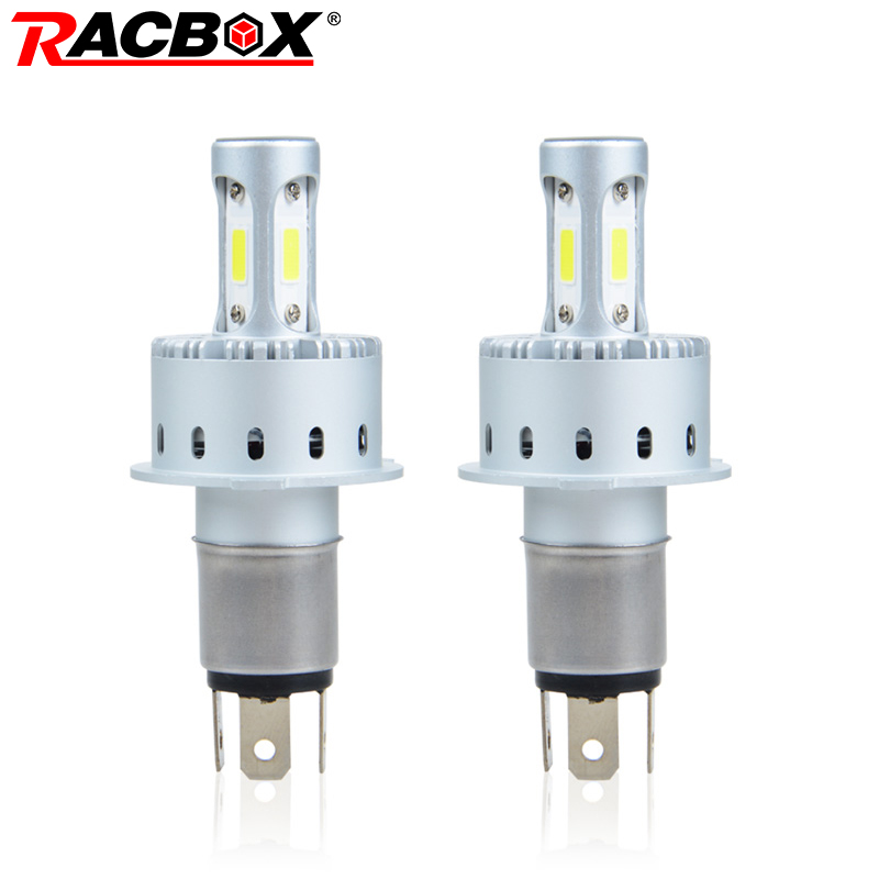 RACBOX All In One H4 H7 H11 9005 9006 Auto Motorcycle Car LED Headlight Lamp Bulb Globe Light LED HB3 HB4 6000K White 12V 24V