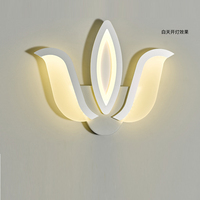 indoor acrylic wall lamp led night bed read leselampe wall light led white for home