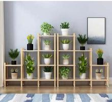 Indoor flower wears ou shiji of real wood balcony sitting room multilayer family use special originality flowerpot wears high-gr