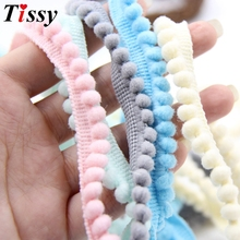 New 5Yards/Lot 5MM/10MM Pom Pom Trim Ball Fringe Ribbon Sewing Accessory Lace For Home Party Decoration DIY Gifts Supplies