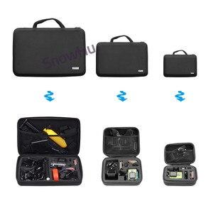 Image 2 - Snowhu Accessoires Draagbare Opslag Camera Grote Bag Case Voor Xiaomi Yi Action Camera Voor Go Pro Hero 9 8 7 6 5 4 3 SJ4000