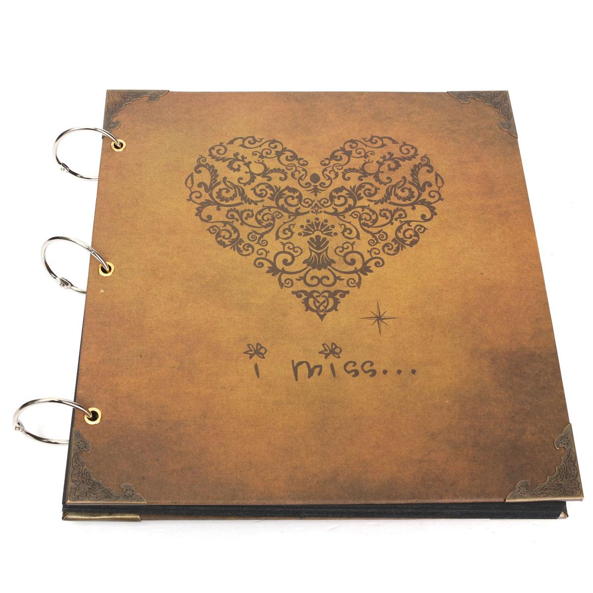 How to scrapbook wedding album - New Heart Type Loose Leaf Wedding Kraft Album Diy Photo Albums Family Photos Scrapbook Diary