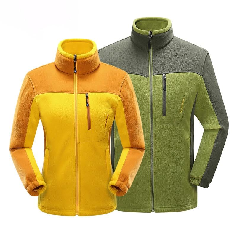 NRAHBSQT Hiking Jacket Outdoor Softshell Polar Fleece Windproof Women Coat HJ002 Couple