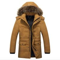 2017 New Winter Thick Padded Parka Men Cotton Jacket Coats Russian Hooded Casual Warm Snow Overcoat Male Outwear