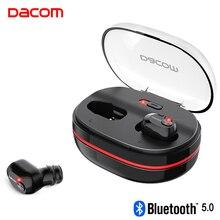 DACOM K6H Pro TWS kablosuz kulaklıklar Bluetooth 5.0 kulaklık gerçek kablosuz kulaklık Mini kulaklık 1100mAh şarj kutusu ile