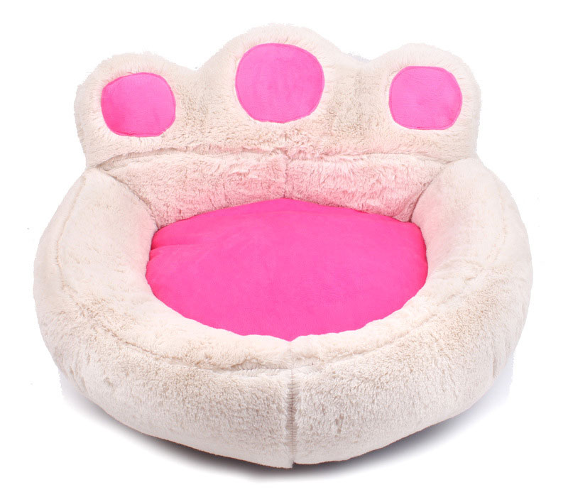 CAWAYI KENNEL Paw Shape Pet Dog Cat Bed Sofa Nest Soft PP Cotton Dog Warm Kennel Bed House Pet Mats Cushion Removable D1065 4