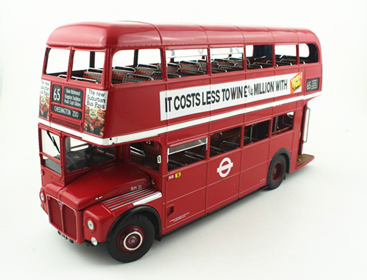 SUNSTAR 1:24 Routemaster RM Solar Star double-decker bus restricted version authentic field packing FM