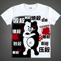 Japanese Danganronpa anime  t-shirt Monokuma teddy bear cotton shirt Makoto Naegi Cosplay Christmas Costumes clothing