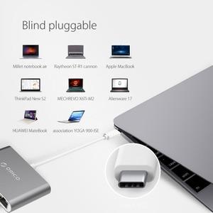 Image 5 - ORICO USB3.1 Type C HUB Splitter to HDMI RJ45 VGA USB3.0 Type A Adapter Dock Support 60W PD Charging for MacBook Pro USB C HUB