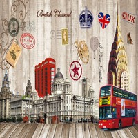 Free Shipping 3D Stereo Wallpaper European American World Famous Architectural Background Wall Decoration Painting Custom Mural