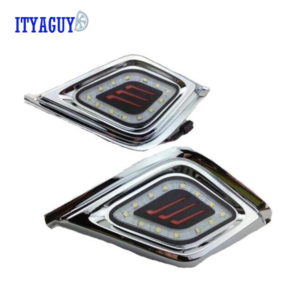 Car styling LED DRL Daytime Running Ligh front fog bumper lamp For ISUZU D-MAX D MAX DMAX 2014 2015 2016 2PCS шторы реалтекс классические шторы alexandria цвет венге молочный венге