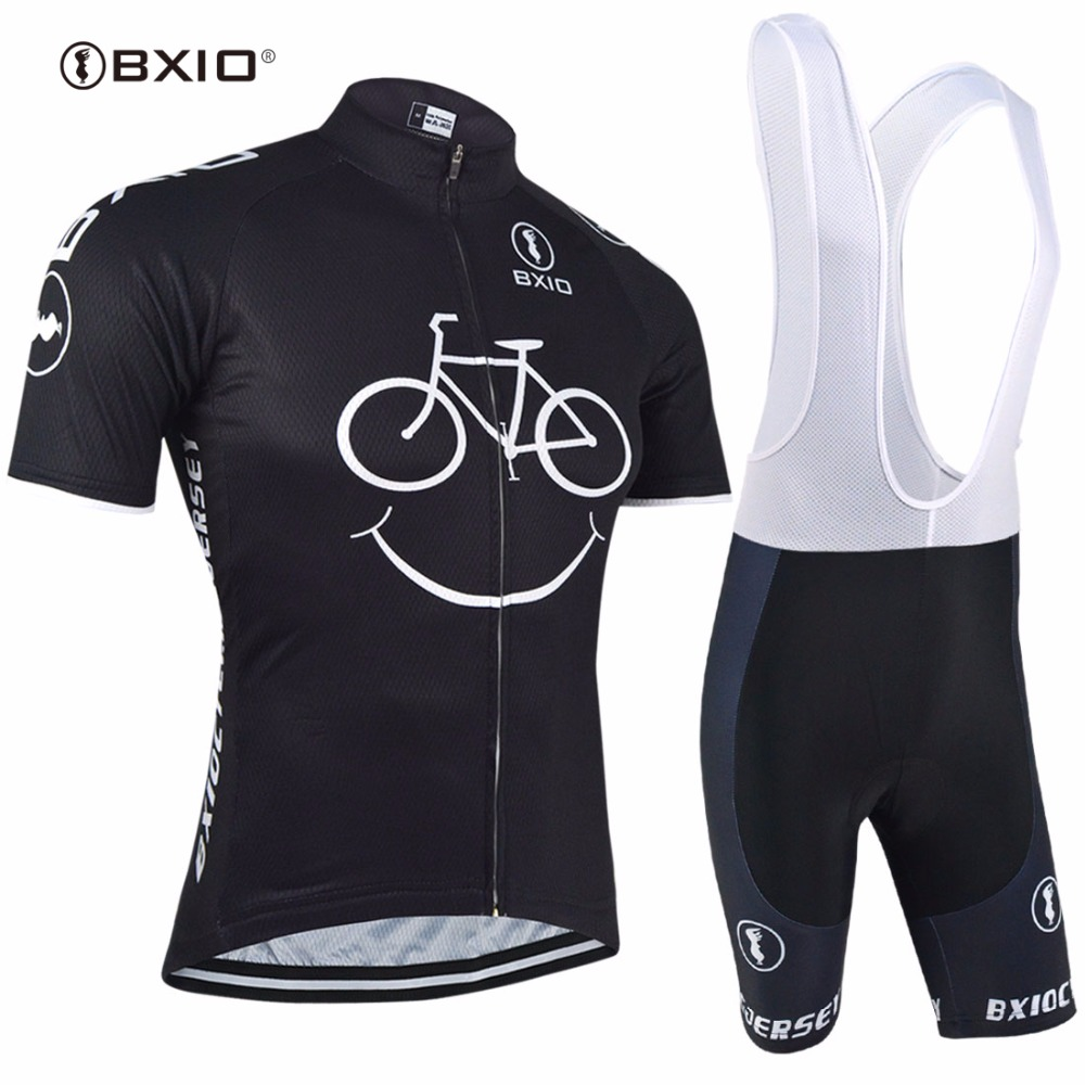 BXIO Men Cycling Clothing Pro Team Bike Short Sleeve With Bib Shorts Three Rear Pockets Of The Cycling Jerseys Ropa Ciclismo 085 2017 cheji pro team mens ropa ciclismo cycling jerseys gel pad bib shorts short sleeve bike bicycle wear shirts black & red