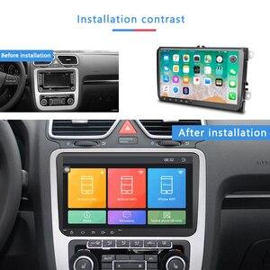 Автомобильный мультимедийный плеер Podofo, 2 Din, Android 8,1, gps, стерео для Volkswagen, Skoda Seat, Octavia, golf 5, 6, touran, passat, B6, polo
