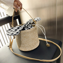 2019 Fashion Round Straw Bags Summer Style Women Handbags Bohemian Rattan Crossbody Handmade Woven Beach Circular