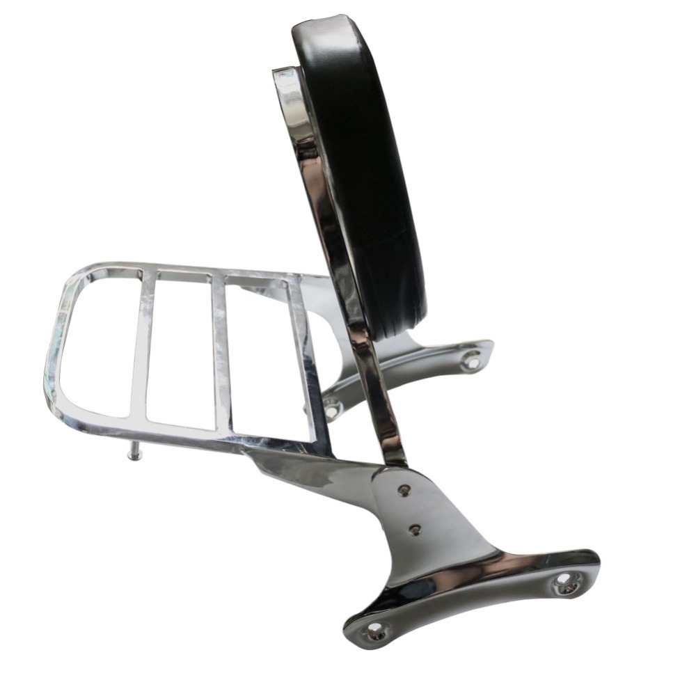 Backrest Sissy Bar Luggage Rack For Honda Shadow VT400 VT750 400/750 1998-2003 02 01 00 99 Motorcycle Detachable Back W/ Pad Set