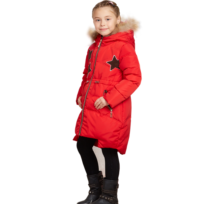 2017 Girls Winter Coats Kids Outwear Down Jacket Children Long Style Warm Girls Clothing Baby Girls Down Coats Jacket Thicken down winter jacket for girls thickening long coats big children s clothing 2017 girl s jacket outwear 5 14 year