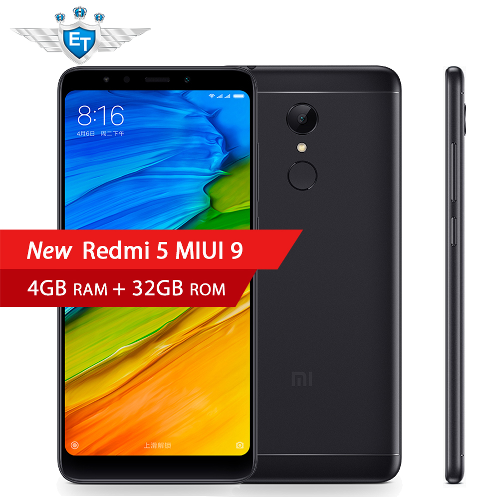 US $168 99  Xiaomi Redmi 5 5 7'' 4GB RAM 32GB ROM LTE 4G Snapdragon 450  Octa Core Smartphone Chinese ROM 18:9 Full Screen MIUI 9 Android 7 1-in  Mobile