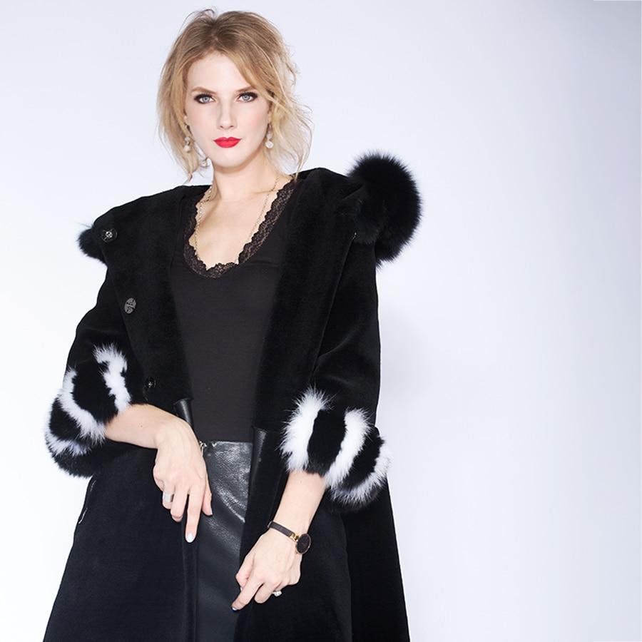Romantic Jacket Women 2018 Camperas Mujer Abrigo Invierno Coat Women Park Mink Predecessor Fox Fur Hat European Design Slim Long Warm Women's Clothing