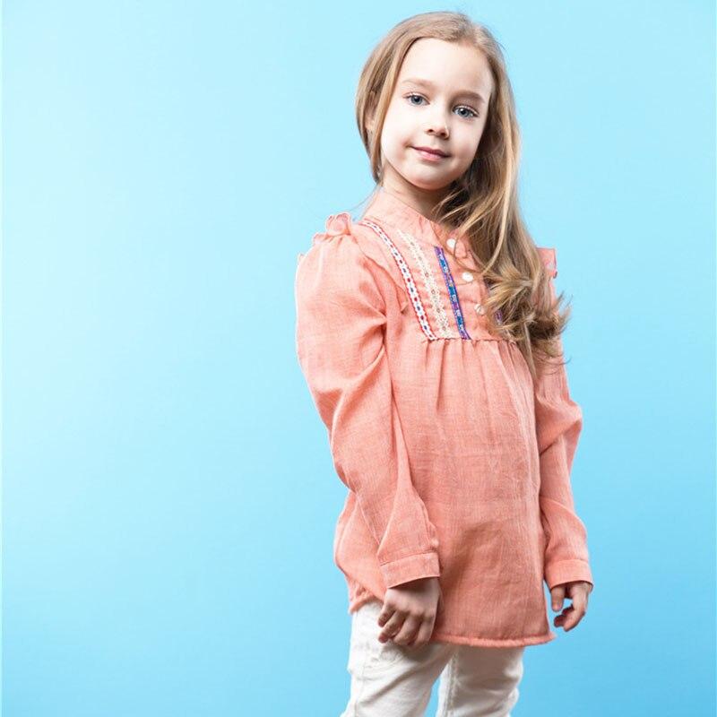 2018 Folk-custom Wind Cotton Baby Girl Comfortable Tops Ruffles Sweatshirt Retro Jumper Long Sleeve Clothes B011