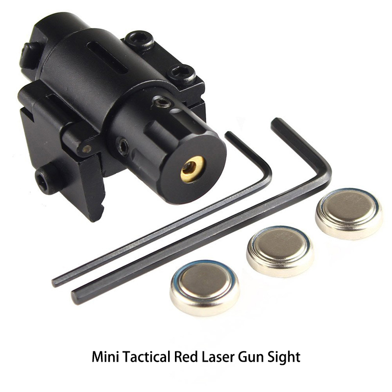 Mini Tactical Red Laser Gun Sight for Pistols (Weaver Mount)