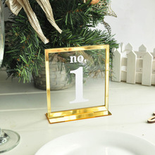 Acrylic Table Numbers,Standing Numbers,Modern Numbers Decal,Wedding Reception Decor,Table Number Stickers