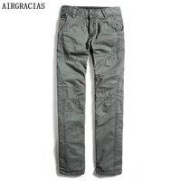 AIRGRACIAS Men's Cargo Pants Military Men Overalls Tactical Long Trousers 100% Cotton Mens High Quality Brand Pants Size 29-40