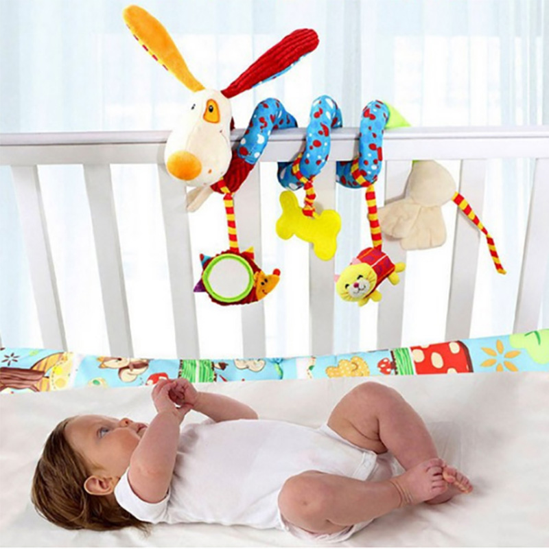 Animal Dog Baby Bed Bumper In Crib For Girls Boys Child Bed Bumpers In Baby Bedding Sets Musical Rattles Toys For Children