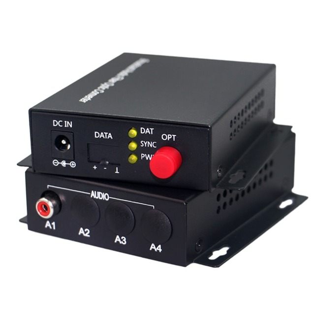 Audio optical fiber transmitter 1 Channel Audio RCA to Fiber Optic Converter FC SM 20km