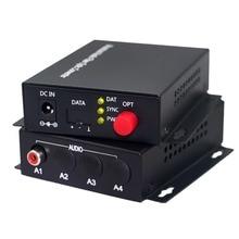 Transmisor de fibra óptica de Audio, convertidor de Audio RCA a fibra óptica FC SM 20km, 1 canal