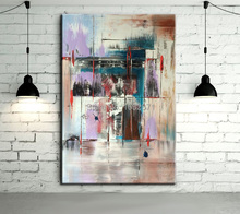Famous Artist Pure Handmade Unique Thinking Canvas Wallpapers Modern Abstract Oil Painting For Living Room Decoration