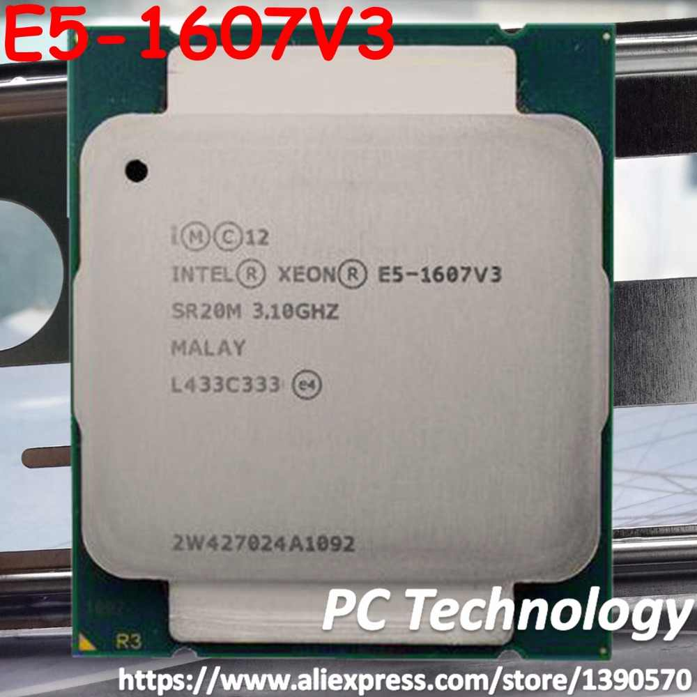 Original Intel Xeon OEM version E5-1607V3 E5 1607V3 (not es) 3.10GHZ 10M 4CORES LGA2011-3 E5 1607 V3 Processor free shipping