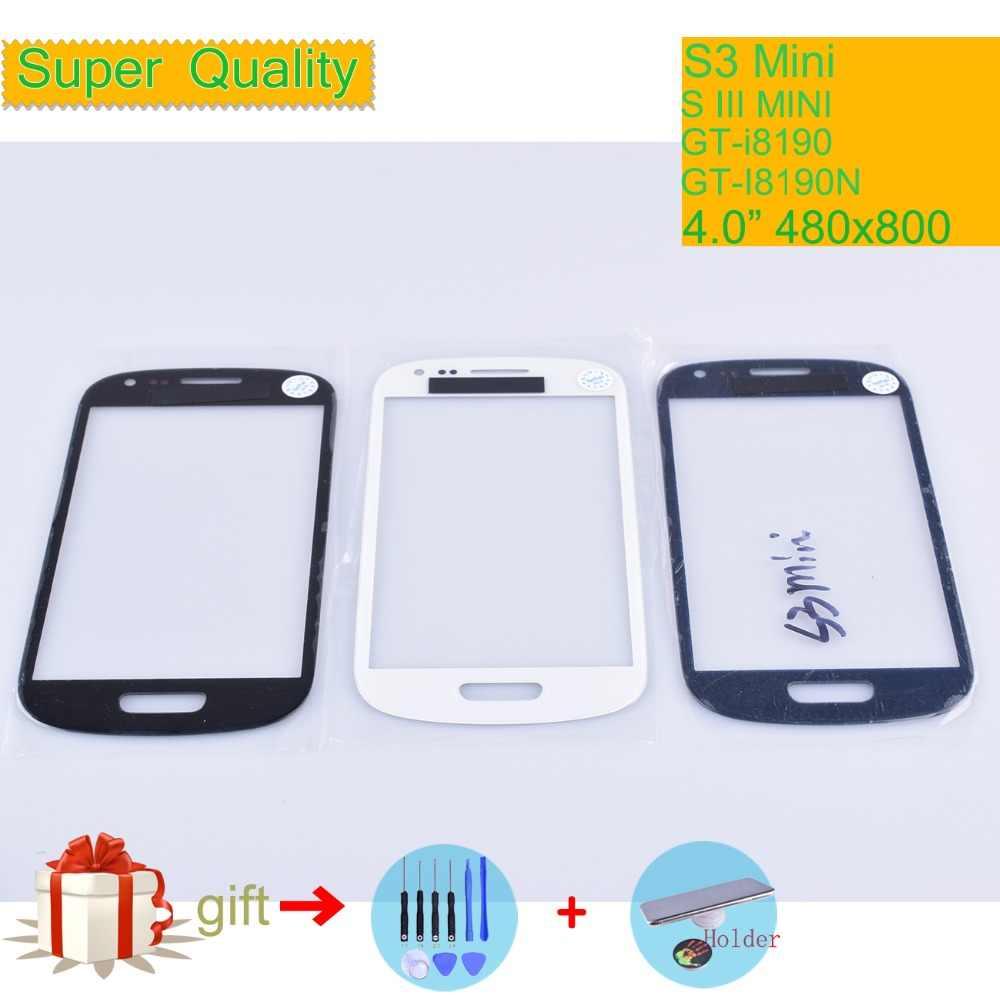 """עבור Samsung Galaxy S III מיני S3 מיני i8190 מגע מסך קדמי זכוכית פנל מסך מגע LCD חיצוני עדשת GT-i8190 GT-I8190N 4.0"""""""