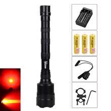 Hunting VASTFIRE 3x LED Weapon Light Torch For Gun With 3X18650+ Charger +Remote Press Switch+Gun Mount