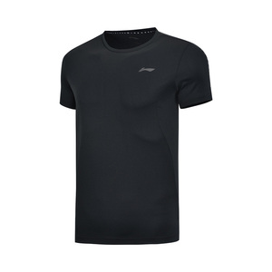 Image 4 - Li ning גברים אימון תרגיל חולצות 100% פוליאסטר לנשימה רגיל Fit רירית לי נינג ספורט טי חולצות AHSP041 MTS3091