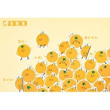45pcs/pack Cute Fruit Series Emoticon Sticker Mini Handmade paper sticker Diary  Scrapbooking Decorative DIY Stickers Stationery