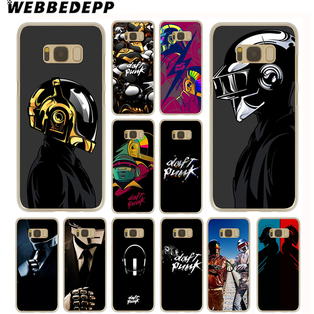competitive price e326a 27581 US $1.99 13% OFF WEBBEDEPP Daft Punk Case for Samsung Galaxy S10 S10E S9 S8  Plus S7 S6 Edge & Note 8 9 Phone Cover-in Half-wrapped Case from ...
