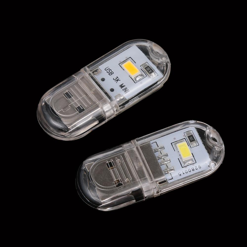 10Pcs Mini 2 LED USB Light Portable Night light for PC Laptops Notebook Reading