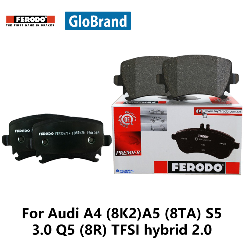 4pcs/lot Ferodo Rear Car Brake Pads For Audi A4 (8K2)A5 (8TA) S5 3.0 Q5 (8R) TFSI hybrid 2.0 FDB4190-OES колодки ferodo 2 4