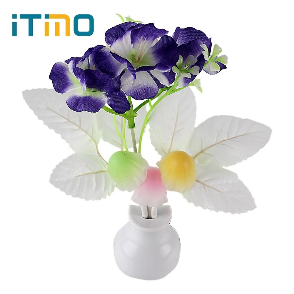 iTimo US Plug Romantischer Lichtsensor Pilz Blume Pflanze Atmosphäre Zuhause Schlafzimmer Dekoration LED Nachtlicht Lampe