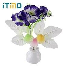 iTimo US Plug Romantic Light Sensor Mushroom Flower Plant Atmosphere Home Bedroom Decoration LED Night Light Lamp