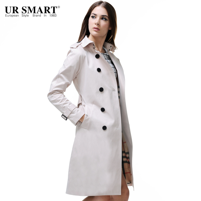 49d58c760 US $73.9 |URSMART New listing women's long section of female double  breasted coat artistic style windbreaker jacket-in Trench from Women's  Clothing on ...