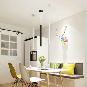 Image 3 - Led Pendant Lamps Long Tube Light Kitchen Island Dining Room Shop Bar Counter Decoration Cylinder Pipe Hanging Light Lamps