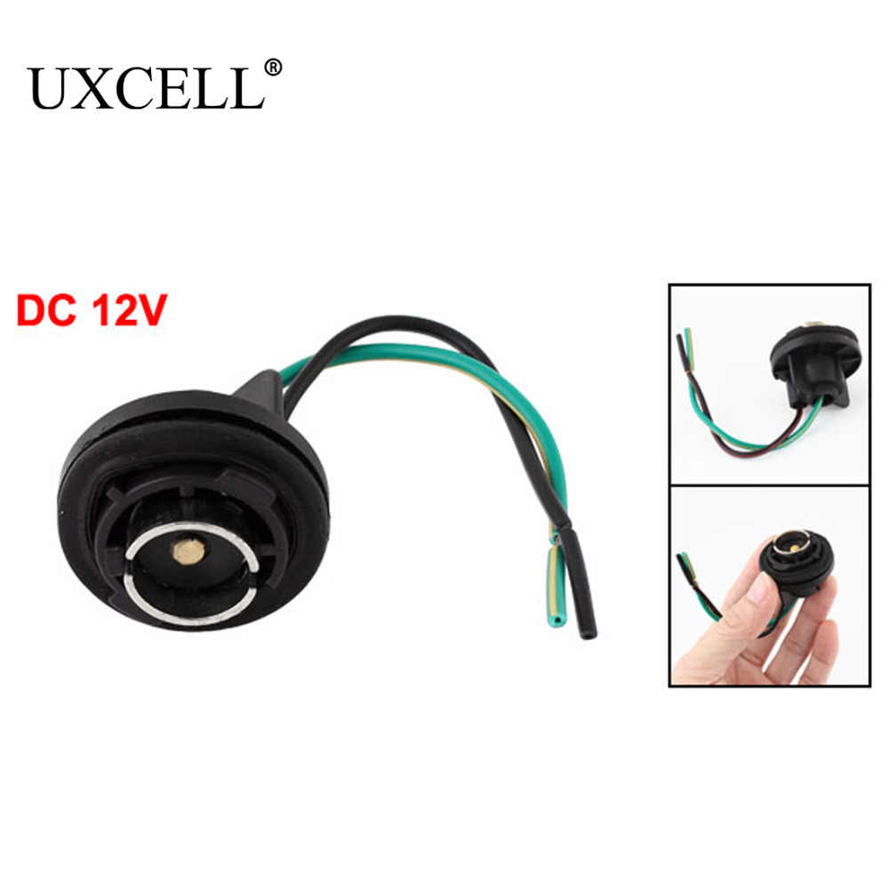 uxcell dc 12v ba9s t11 led lamp turn light 2 wiring harness adaptor socket for auto [ 1000 x 1000 Pixel ]
