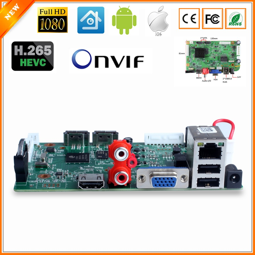 32CH 1080P CCTV NVR Board HI3536C 2 SATA Ports ONVIF Security Video Recorder 32CH 1080P 25CH