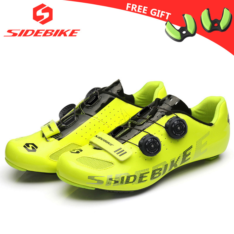 sidebike carbon road cycling shoes men racing shoes road bike ultralight self-locking bicycle sneakers breathable professional west biking bike chain wheel 39 53t bicycle crank 170 175mm fit speed 9 mtb road bike cycling bicycle crank
